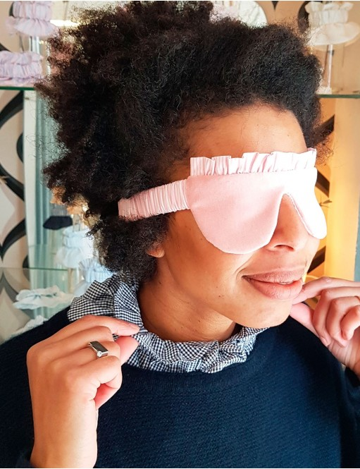 Cotton eye mask pink