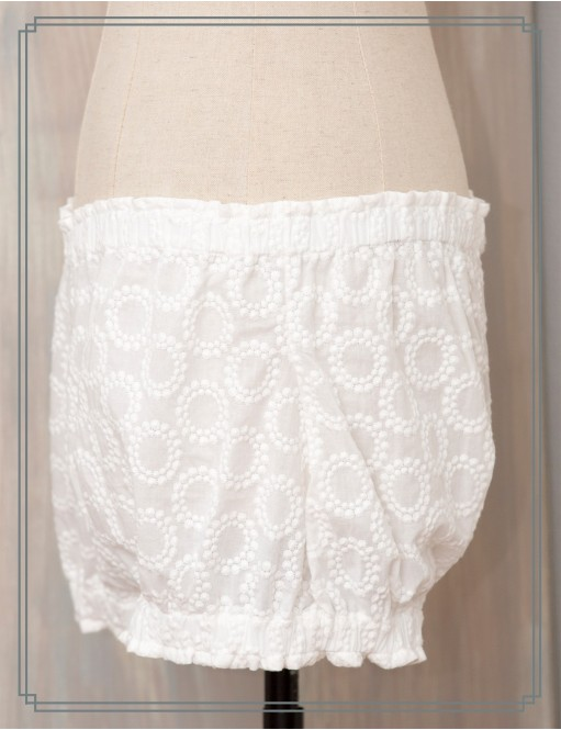 Bloomer broderie anglaise