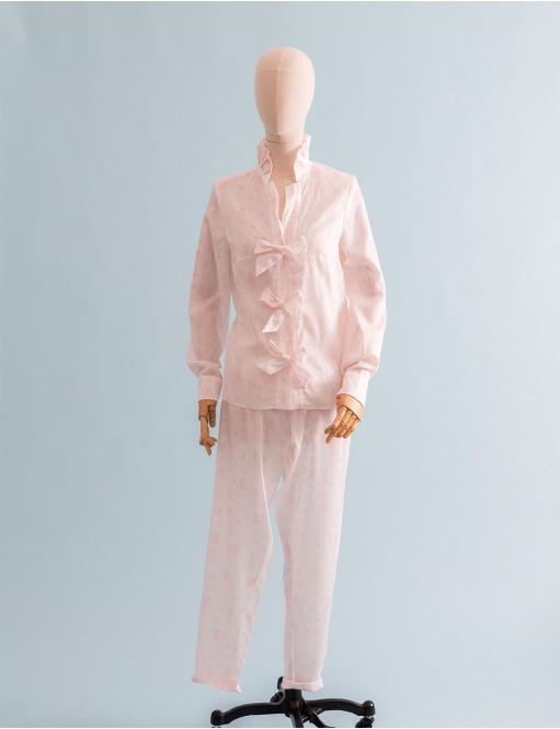 Chemise Coco toile de Jouy pink